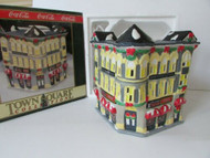 COCA COLA BRAND TOWN SQUARE LIGHTED VILLAGE BLDG PLAZA DRUGS MINT