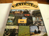 HARD COVER BOOK- THE PICTORIAL STORY OF RAILWAYS- DAMAGED- AS IS S1
