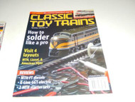 CLASSIC TOY TRAINS MAGAZINE- FEBRUARY 2002 - GOOD - W21