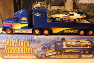 SUNOCO 2000- PRO-STOCK TRANSPORTER W/STOCK CAR -W/LIGHTS AND SOUND- NEW - B1
