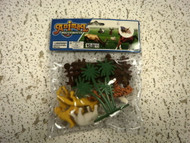 3 MATCHING BAGS OF ASSORTED ANIMALS WITH FENCES AND TREES NEW
