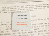 NEW N SCALE- LONG ISLAND RR DECAL SET- SPEED LETTERS FOR ALCOS- L-34- NEW- H29