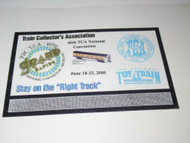 TCA 46TH CONVENTION JUNE 18-25, 2000 - BILLBOARD FOR 0/027 TRAINS - NEW - M9
