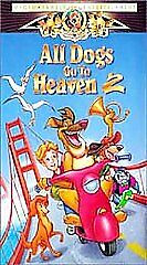 ALL DOGS GO TO HEAVEN 2 CHARLIE SHEEN MGM/UA 1996 USED VHS TAPE