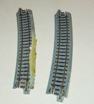 KATO N SCALE - UNITRACK - R481-15 - 15 DEG CURVES - 2 SECTIONS- GOOD CONDITION