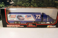 RACING CHAMPIONS 1/64 SCALE NASCAR AUTO PALACE TRANSPORTER- D/C CAB - MINT - S1