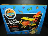 KID'S TEK SOLAR POWERED MODEL BI-PLANE MOTOR AND SOLAR CELL BUILDING KIT