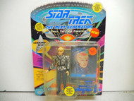 PLAYMATES 6056 STAR TREK NEXT GENERATION SELA ACTION FIGURE -CARDED-NEW -L231