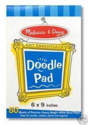 MELISSA & DOUG DOODLE PAPER PAD 50 SHEETS 4107