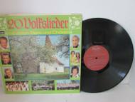 20 VOLFSLIEDER MIT VIELEN STARS UND CHOREN GERMAN MUSIC RECORD ALBUM 1743 L114D