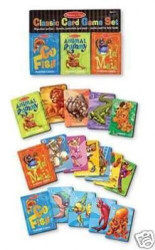 NEW MELISSA & DOUG 4370 CLASSIC CARD GAME SET 3 GAMES IN ONE BRAND NEW