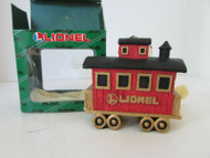 FITZ & FLOYD LIONEL TRAINS COLLECTOR CHRISTMAS ORNAMENT CABOOSE - AS IS M4