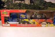 SUNOCO 2006- RACING BIKE & TRANSPORT- W/LIGHTS & SOUND- NEW - A1