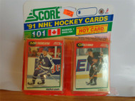 HOCKEY CARDS -SCORE 1991 NHL HOCKEY CARDS- SERIES 1- RE-TAPED - H42