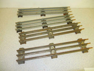 LIONEL POST-WAR - O GAUGE STRAIGHT TRACK- 4 SECTIONS - FAIR - W10