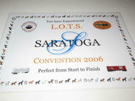 L.O.T.S - SARATOGA 2006 CONVENTION PLACE MAT - NEW- H21