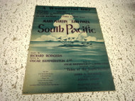 A WONDERFUL GUY RODGERS & HAMMERSTEIN SOUTH PACIFIC USED SHEET MUSIC