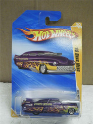 HOT WHEELS- '49 DRAG MERC- PURPLE- 2010 NEW MODELS- NEW ON CARD- L149