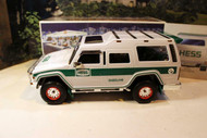 HESS TRUCK- 2004- 40TH ANNIVERSARY SUV W/MOTORCYLES- LIGHTS- NEW- S1