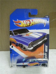 HOT WHEELS- '66 BLUE/WHITE CHEVY NOVA- HW RACING- NEW ON CARD- L15