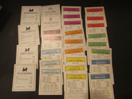 MONOPOLY GAME PARTS COMPLETE SET OF PROPERTY DEEDS CARDS USED 1960'S-1980'S