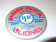 "LIONEL RAILROAD CLUB INSIDE TRACK 3"" BUTTON 1993 - EXCELLENT SHAPE- H27"