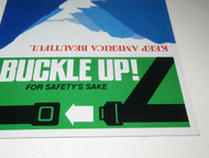 "BUCKLE UP / KEEP AMERICAN BEAUTIFUL BILLBOARDS - 6""- FOR 0/027 TRAINS- NEW - M9"