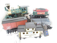 G SCALE - BATTERY OPERATING PENNSY FREIGHT SET W/REMOTE & SOUND - EXC- B1T