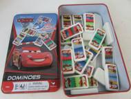 DISNEY PIXAR CARS 2 28 PLASTIC DOMINOES GAME IN TIN CASE KIDS CARDINAL L183