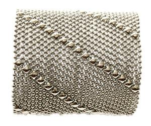 Diagonal Lines Silver Mesh Wide Cuff Bracelet B27