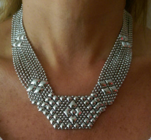 SG Liquid Metal Mesh Necklace, style N5