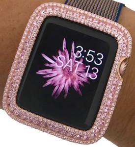 EMJ Series 2,3 Apple Watch Pink Zirconia Bezel Face Insert Rose Gold 38/ 42 mm