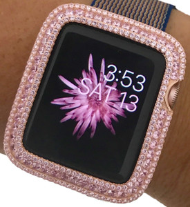 EMJ Series 2,3 Apple Watch Pink Zirconia Bezel Face Insert Rose Gold 38/ 42 mm