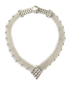 SG Liquid Metal Chain Mail Mesh Silver Necklace CMNECK1 by Sergio Gutierrez