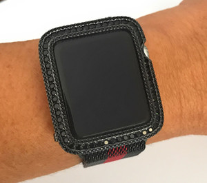 EMJ Series 2,3 Apple Watch Black Zirconia Bezel Face Cover Insert 38/ 42 mm