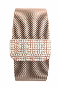 Zirconia Rose Gold Milanese Loop Stainless Steel Band for Apple Watch Series 1,2,3 38/42mm