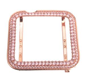 EMJ Bling Apple Watch Pink Princess Zirconia Rose Gold Face Cover Bezel 38/42mm Series 1,2,3