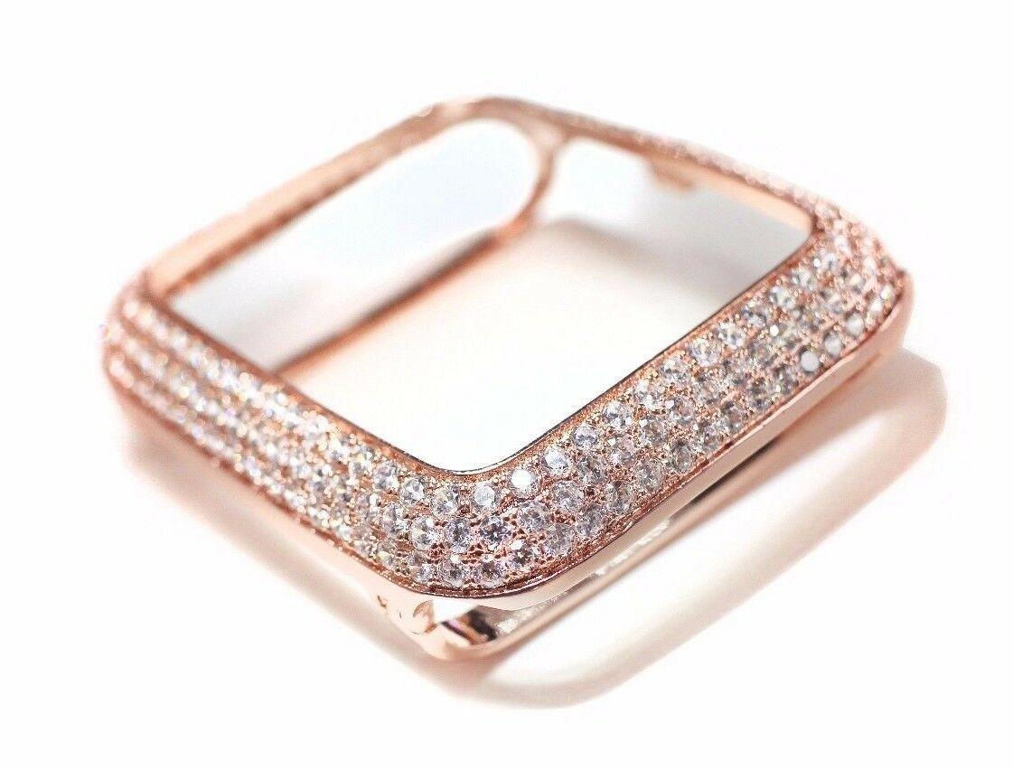 brand new d4e51 3a623 EMJ Bling apple watch Series 4 S4 bezel case face cover Zirconia Rose Gold  40 / 44 mm
