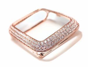 EMJ Bling apple watch Series 4/5 bezel case face cover Zirconia Rose Gold 40 / 44 mm