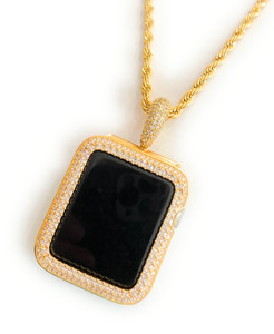 Bling watch pendant chain necklace 38/42 mm