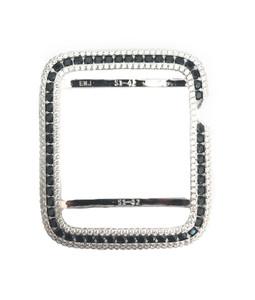 EMJ Series 1,2,3 Bling Apple Watch Black Zirconia White Gold Silver Case Bezel 38/42mm
