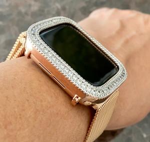 Bling Rose Gold Watch Bezel Face 40,44 mm