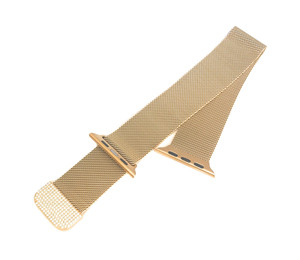 Zirconia Gold Milanese Loop Stainless Steel Band for Apple Watch Series 1,2,3,4,5  38/40, 42/44 mm