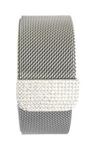 Bling Zirconia Silver Milanese Loop Stainless Steel Band for Apple Watch Series 1,2,3,4,5  38/42mm  40/44 mm