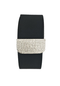Bling Zirconia Black Milanese Loop Stainless Steel Band for Apple Watch Series 1,2,3,4,5  38/42 40/44 mm