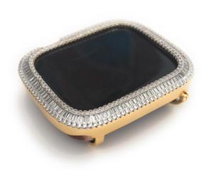 EMJ Series 4/5 Bling  Apple Watch Baguette Zirconia Gold Case Face Cover Bezel 40/44 mm