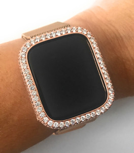 Rose Gold Bling  bezel face for watch 40/44 mm