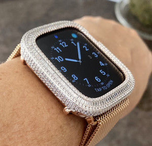 Rose gold series 4,5,6,SE watch face bezel 40/44 mm