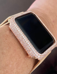 EMJ Bling Apple Watch Bezel Face Case Rose Gold Zirconia 38/42mm Series 1,2,3