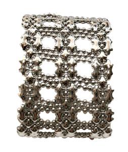 Liquid Metal Bedleh Silver Mesh Cuff Bracelet by Sergio Gutierrez B83